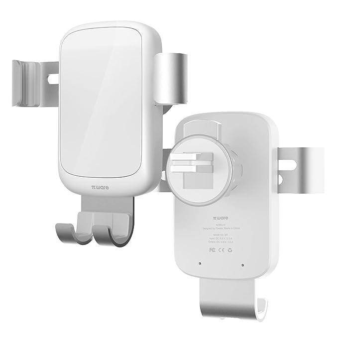 2 opinioni per Piware Caricabatterie da Auto Wireless Supporto 360° Girevole con base di carica