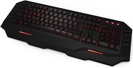 Ozone Blade Gaming Tastatur (10 Macro-Tasten, 1ms Reaktionszeit, 128KB interner Speicher) Schwarz