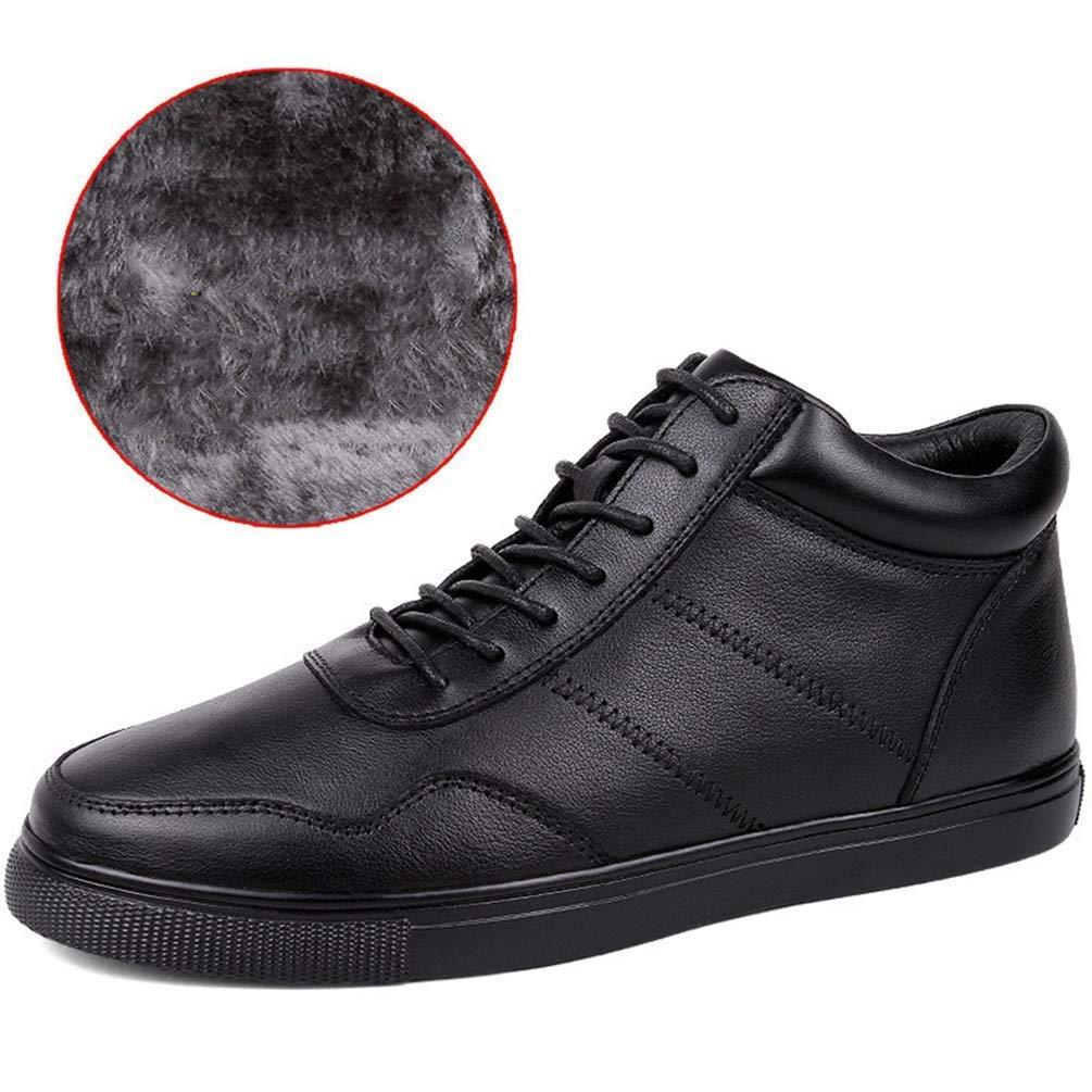 ZHRUI Männer Winter Stiefel Tennis Schuhe Lace Up Warme Schneeschuhe Stiefeletten Schuhe Rutschfeste Beiläufige Schuh Männliche FL (Farbe   schwarz W, Größe   13=47 EU)