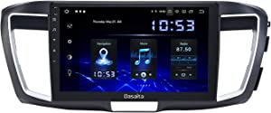 Dasaita Android 10.0 Car Radio with Carplay for Honda Accord 2013 2014 2015 Head Unit 1280x720 Resolution Touch Screen 4G Ram 64G ROM Support Android Auto GPS Navigation WiFi RDS Radio Bluetooth
