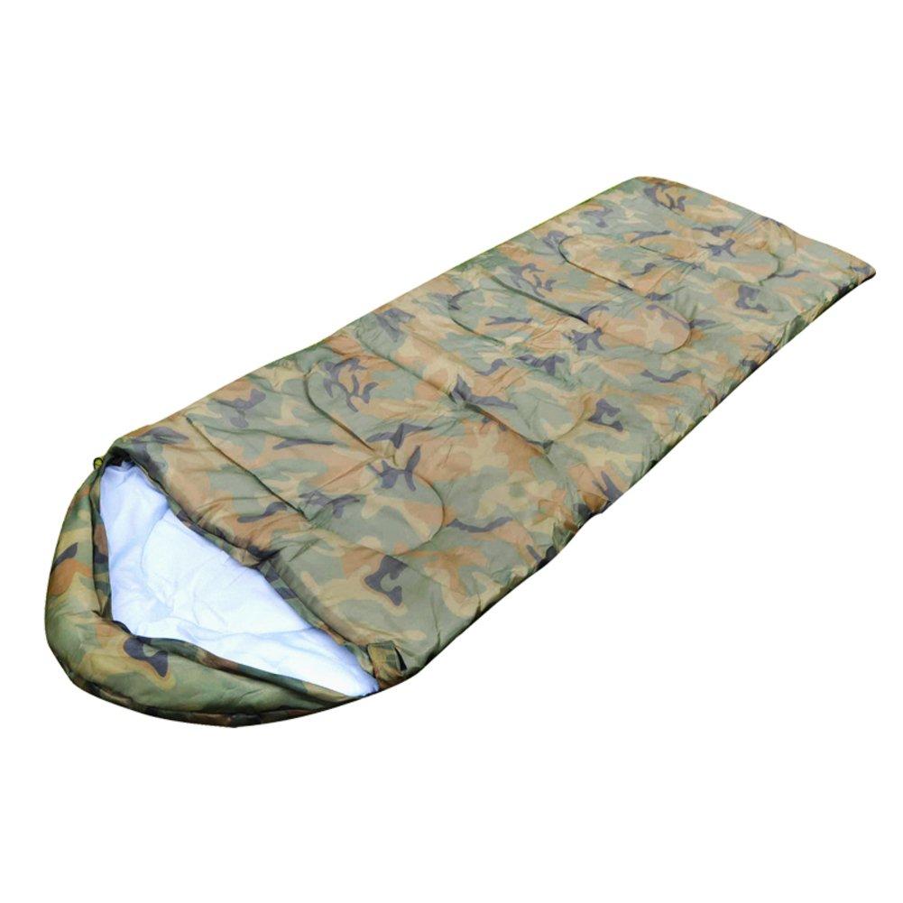 Thickening迷彩封筒型寝袋/アウトドアキャンプ/キャンプ寝袋 B071RL6VX8