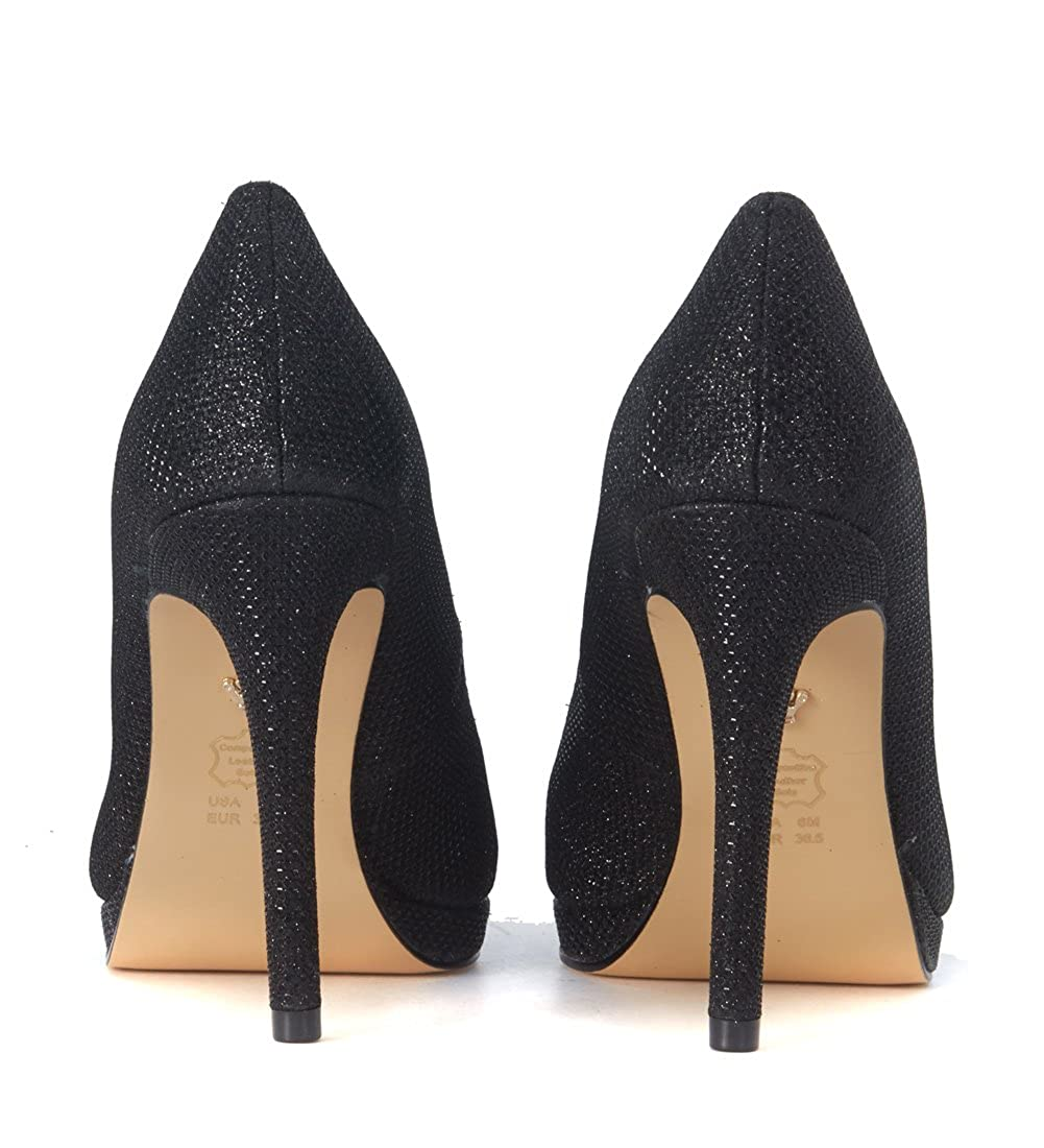 Nina Pumps New York Neelah Lurex Schwarz Größe Uk Uk Uk  c7f86b