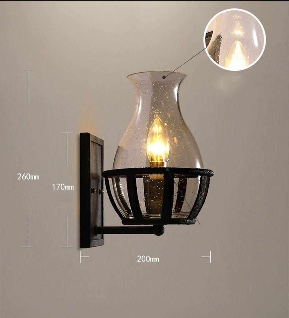 HhGold Eisenglas-Schatten-Wand-Licht-Hof-Fassaden-Persönlichkeit beleuchtet Korridor-Beleuchtung (Farbe   -, Größe     -) bc4eaf