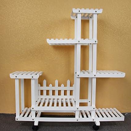 LWF - Estante de madera maciza para macetas, diseño de ...