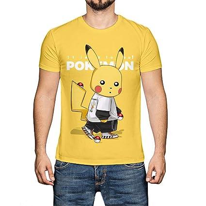 WQWQ Camiseta Pokemon Pikachu de Navidad Camiseta de Manga ...