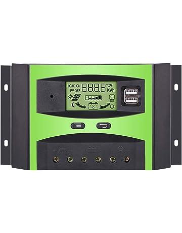 GIARIDE 30A 24V 12V Regulador de Carga Solar Panel Batería PWM Controlador Inteligente Parte USB Pantalla