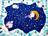 Wool blanket Baby boy blanket Playmat with lambs Gift for kids Baby shower