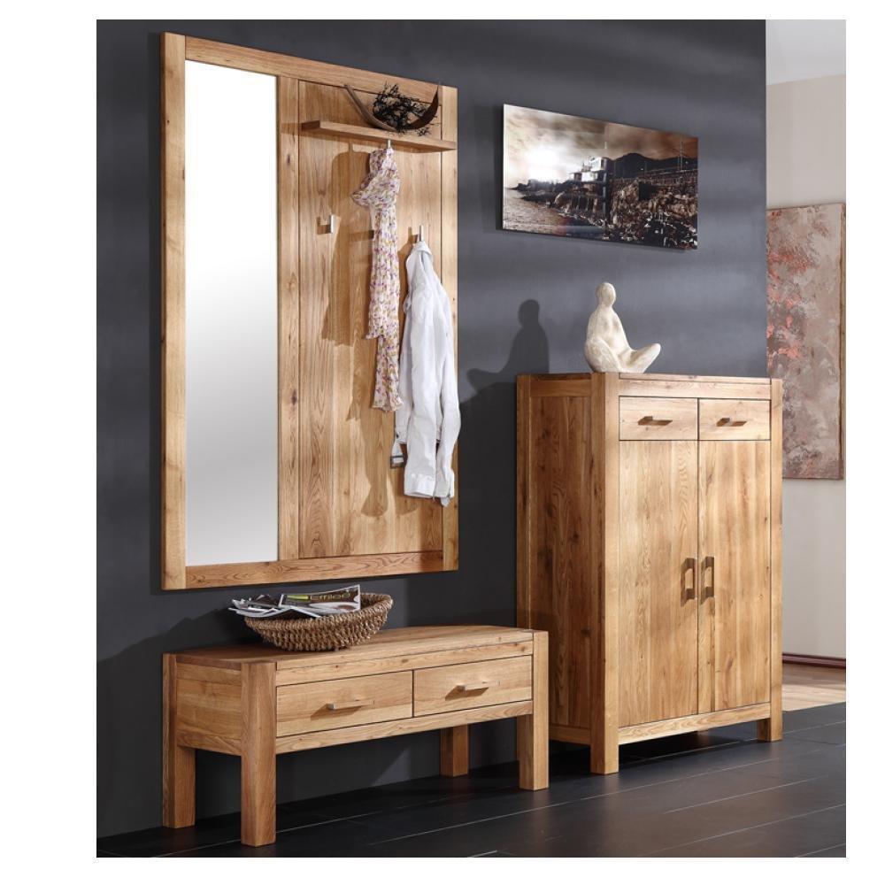 Hochwertig Garderoben Set Casa Henke Möbel Wildeiche Massiv Braun Massivholz Günstig  Bestellen