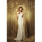 PHOTOBOOTH BACKGROUND Best Choice-4FTx7FT-Gold-Sequin backdrops, Sequin fabric,Wedding backdrops,Rust Backdrop,Sequin curtains,Photography backdrop (buy it now) (Gold)