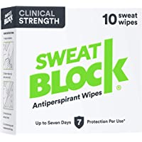Sweatblock Antiperspirant For Men and Women - Clinical Strength Antiperspirant Wipes for Hyperhidrosis - Reduce Sweat Up…