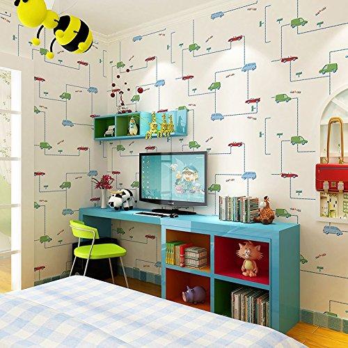 Y-Hui Children'S Room Wallpaper, Car Cartoon, Science Fiction, Non-Woven Wallpaper,B