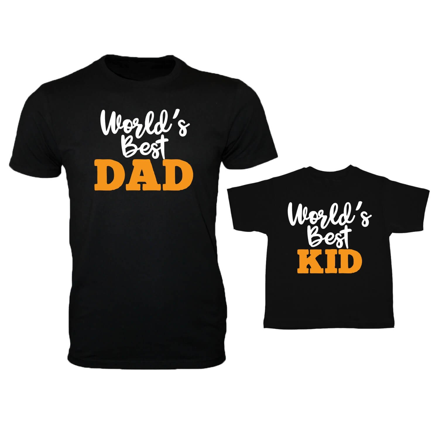 b63550ab4 YaYa cafe Family T-Shirts Fathers Day Worlds Best Dad and Kid Combo for Dad  and Kid Daughter Son Set of 2  Amazon.in  Clothing   Accessories