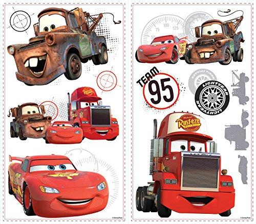 Roommates Rmk2614Slv Disney Pixar Cars Team 95 Peel & Stick Wall Decal