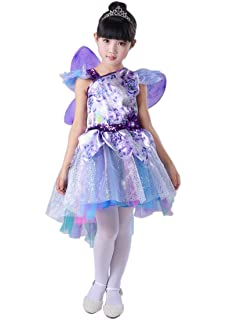 22b3dd759d31a (小さな幸運)ハロウィン 子供 キッズ 女の子 可愛い プリンセス 精霊 妖精 ドレス ワンピース 長袖 コスチューム