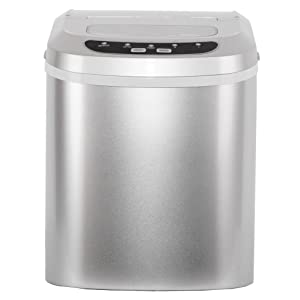 Smad Portable Automatic Counter Top Ice Maker with Lid,26-Pound,Silver