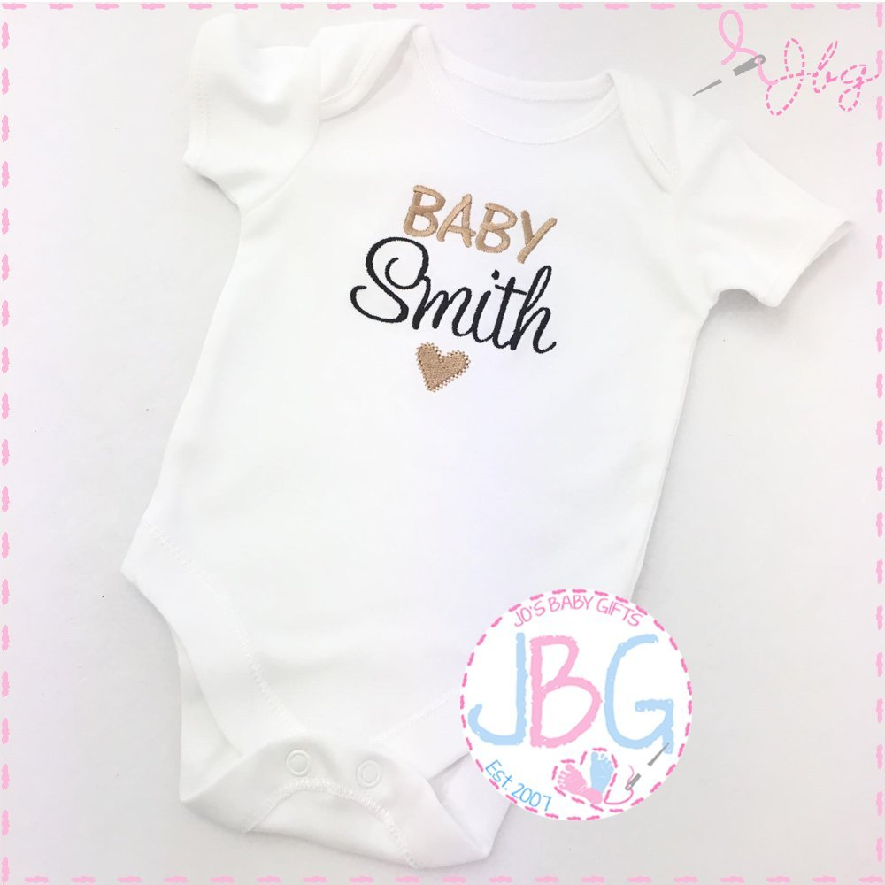 Personalised Unisex Baby Vest Onsie, Embroidered Design, New arrival Clothes, Bodysuit