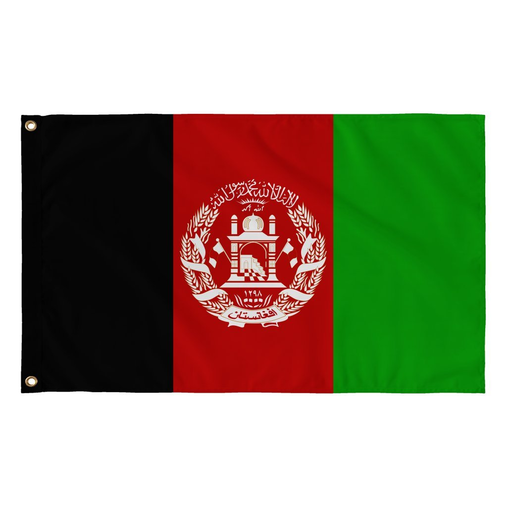 Stylish afghanistan flag