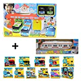 Mimiworld Tayo the Little Bus Main Garage with 15 Cars including Subway Model of Tayo Full Set Toy