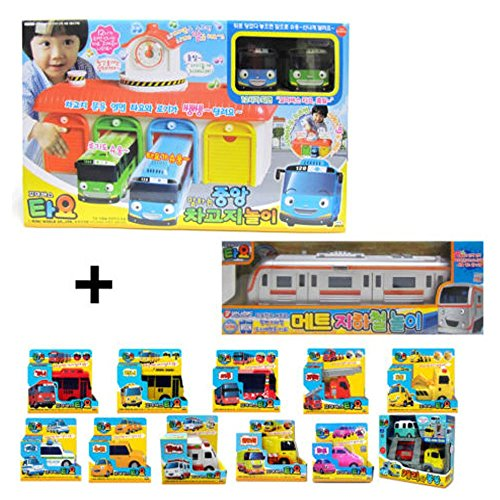 Mimiworld Tayo the Little Bus Main Garage with 15 Cars including Subway Model of Tayo Full Set Toy by Mimi World (Image #6)