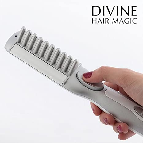 Mamzelle O Magic Straight - Cepillo alisador electrico con recubrimiento ceramico, 25 W, color blanco: Amazon.es: Salud y cuidado personal