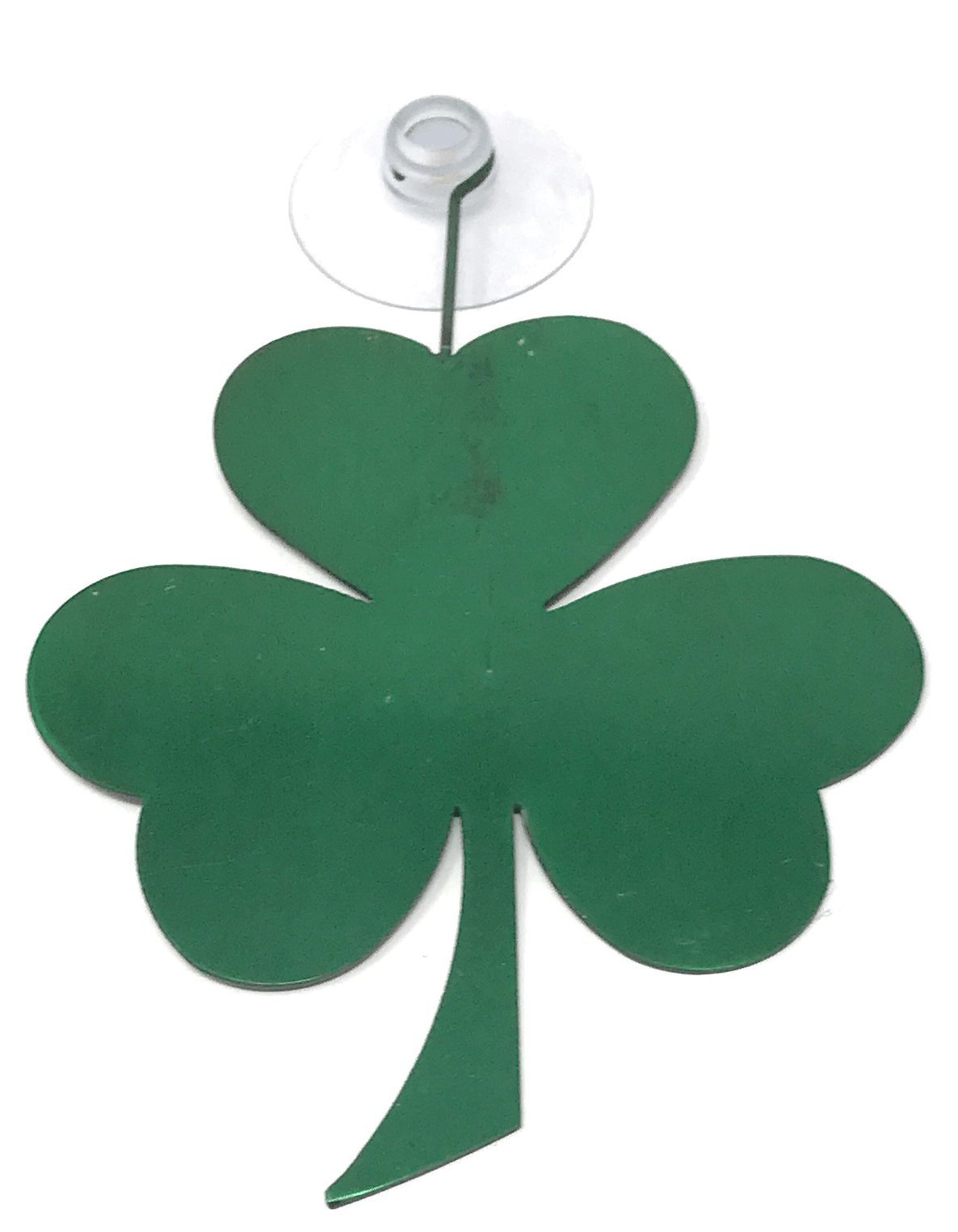 Electroplated Metal Clover Shamrock Window Hanger with Suction Cup