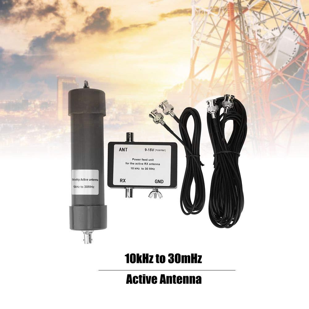 Antena activa 10kHz-30MHz, Antena activa Mini Whip, Ensamblaje de antena con cable portátil, para comunicación por radio