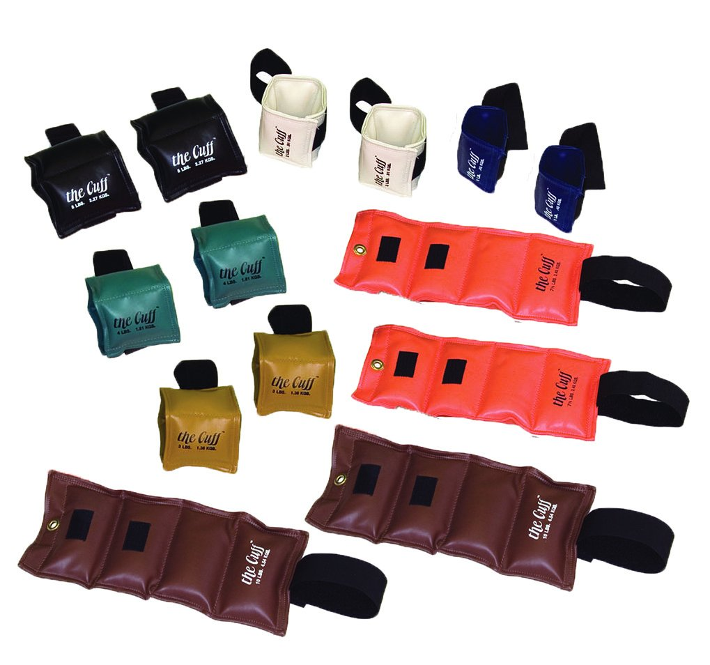 The Cuff Original Ankle and Wrist Weight - 14 Piece Set - 2 of Each: 1, 2, 3, 4, 5, 7.5, 10 lb