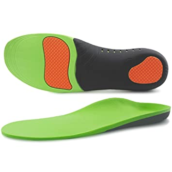 69209fcafd Ailaka High Arch Support Orthotic Shoe Insoles for Men and Women, Shock  Absorption Gel Cushion