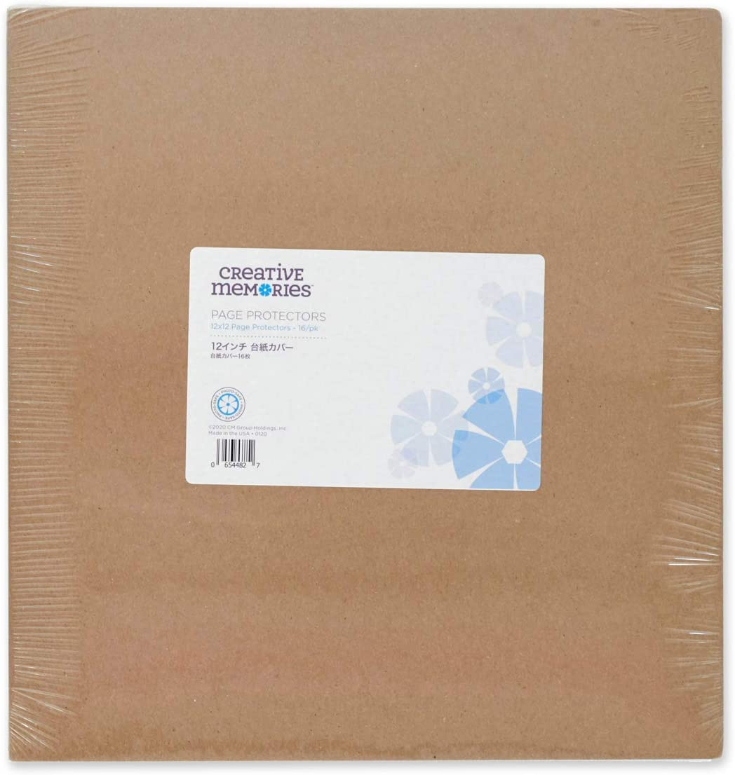2 Pack by Creative Memories 16//pk 12x12 Page Protectors