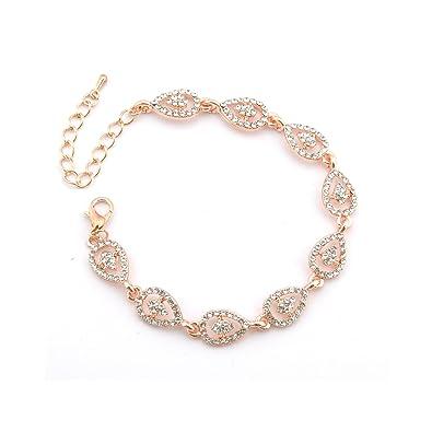 Amazoncom Topwholesalejewel Wedding Bracelet Rose Gold Plating