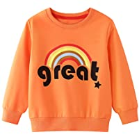 Edjude Sudaderas Cuello Redondo Niña Niño Unisex Otoño Invierno Partes de Arriba Camisetas de Manga Larga Abrigo Jersey…