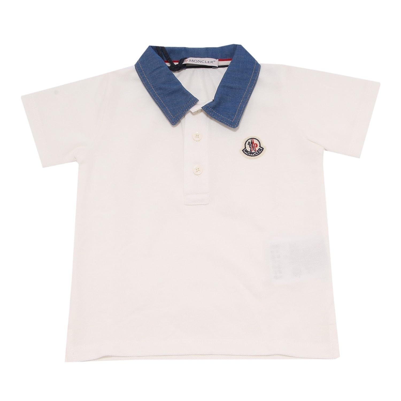 MONCLER - Polo - para niño Bianco 74 cm: Amazon.es: Ropa y accesorios
