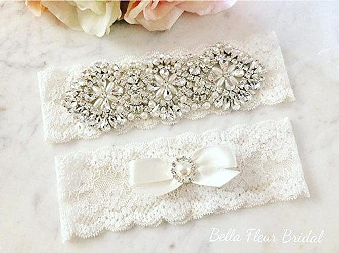 ca6410dd3 Image Unavailable. Image not available for. Color  Vintage Bridal Garter