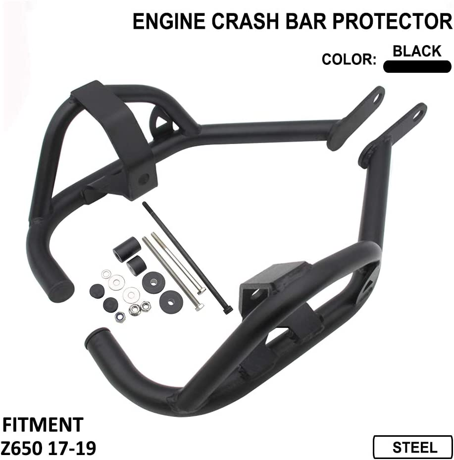 Barre de traction universelle avec poign/ée de traction pour Honda CB CBR Kawasaki KLX Ninja Suzuki GSXR750 Triumph Street bike Chrome Noir//chrom/é 22 mm