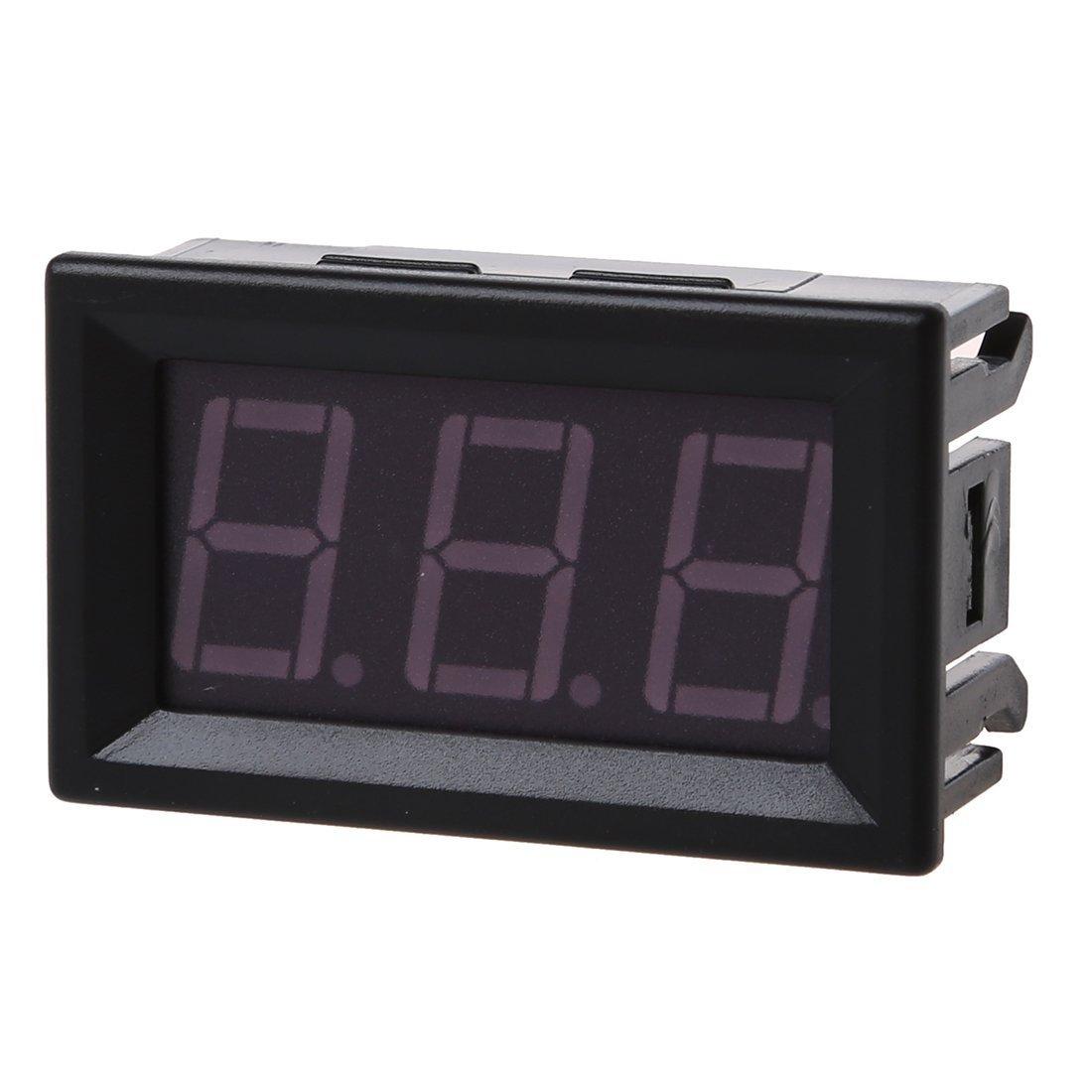 R VERT TOOGOO DC 0-99V Afficher 3 fils LED Digital Panneau voltmetre la tension voltmetre Motor Car