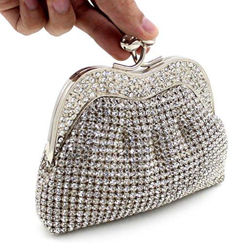 WYB Europäischen und amerikanischen Luxus-Kristall / Diamant-Abendbeutel / High-End-volle Diamant / Klemme Kupplung / Bankett Beutel / Brautbeutel
