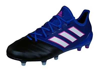 14f9beb1 adidas Ace 17.1 Leather FG Mens Firm Ground Soccer Boots/Cleats-Blue-6.5
