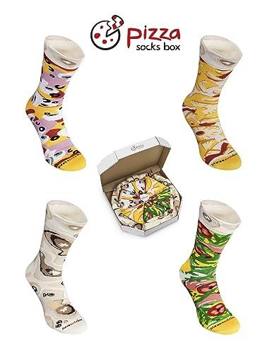 Amazon.com: PIZZA SOCKS BOX 4 pairs MIX Hawaii Italian Capriciosa Cotton Socks Made In EU: Clothing