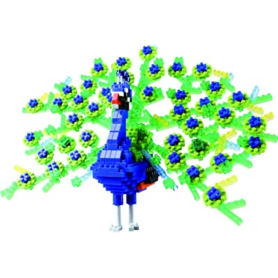 Nanoblock Deluxe Peacock Building Kit, Purple: Toys & Games