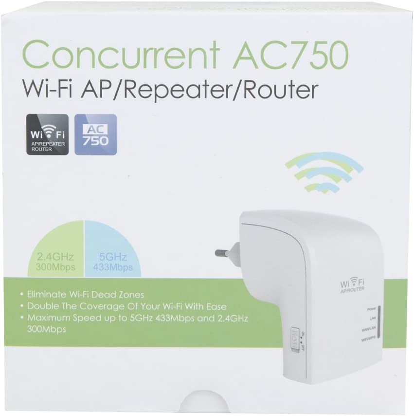 2.4 GHz 300Mbps + 5.0 GHz 433Mbps LB1 High Performance Wireless Network Repeater//AP Router Dual Band Best Gaming Router WiFi AC 750Mbps