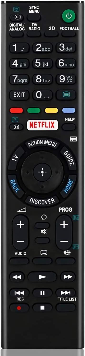 RMT-TX100D - Mando a Distancia de Repuesto para televisor Sony Smart TV Control Remoto para Sony LCD/LED TV (Botón Netflix) RMT-TX101J RMT-TX102U RMT-TX102D TV Control Remoto Universal: Amazon.es: Electrónica