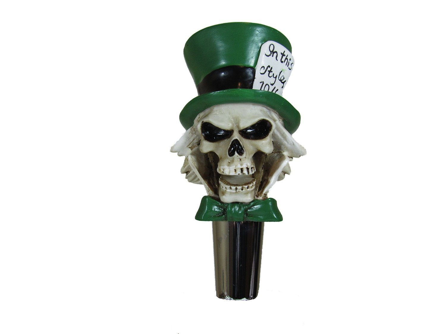 Mad Hatter Beer Tap Handle Home Bar Kegerator Zombie Skull