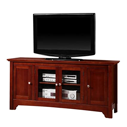 amazon com walker edison solid wood tv stand home kitchen rh amazon com solid wood tv cabinet design solid wood tv cabinet with drawers