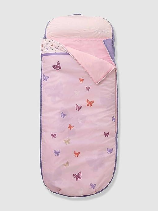 Vertbaudet Saco de Dormir con Colchón Integrado para Niña Rosa Claro Liso con Motivos Unica