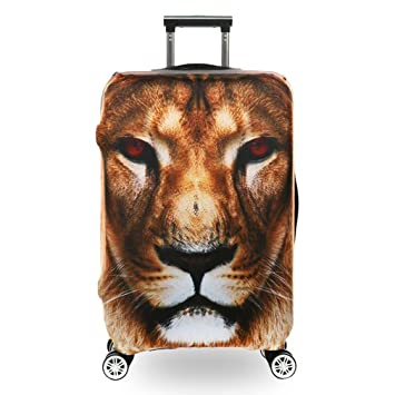 BEDLININGS Fundas para Maletas de Viaje,3D Print Animal Avatar Diseño Travel Trolley Case Cover Protector Maleta Cover Trolley Case Equipaje de ...