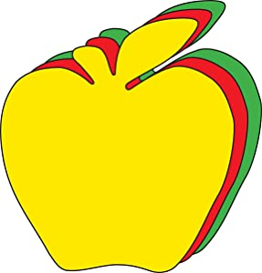 """5.5"""" Apple Tri-Color Creative Cut-Outs, 31 Cut-Outs in a Pack for Fall Projects, Decorations, Learning Games, Classroom, Kids' School Craft Projects"""