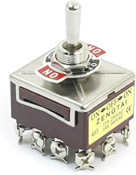 15A ON-OFF-ON Position with Waterproof Cover 12-Pin Toggle Switch New