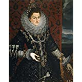 Oil painting 'Pantoja de la Cruz Juan La infanta Isabel Clara Eugenia 1598 99 ' printing on polyster Canvas , 24 x 30 inch / 61 x 77 cm ,the best Hallway decoration and Home artwork and Gifts is this Cheap but High quality Art Decorative Art Decorative Prints on Canvas