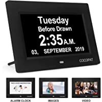 Cocopat Dementia Digital Day Week Clock with USB Charger Port