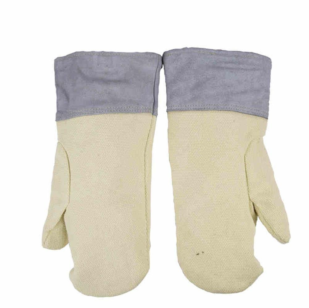 High Temperature 500 ° Glove Oven Thermal Insulation Working Gloves Wear Resistant Wrinkle Thicker Microwave Universal Gloves , xl